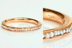 beuatiful gold ring with little pearls.. this is so much work!