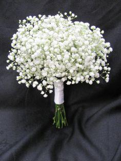 Bridesmaids bouquet of babies breath...LOVE