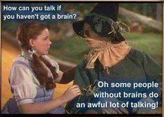 brainless people forever talking!