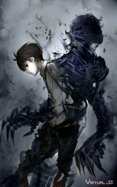 Ajin ~ ah man the art is so great I love it! I'm not too far into the anime OR manga but I really like it Manga Anime, Ajin Anime, Art Manga, Manga Boy, Anime Demon, Fantasy Characters, Anime Characters, Red Hair Anime Guy, Guy Hair