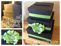 """DIY Wedding Card Box.. This is what I was talking about. A """"well wish"""" box instead of a birdcage @Kaitlin Wright Knudsen"""