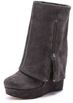Alice + olivia Yeardley Suede Cuff Boots on shopstyle.com WANT THESE