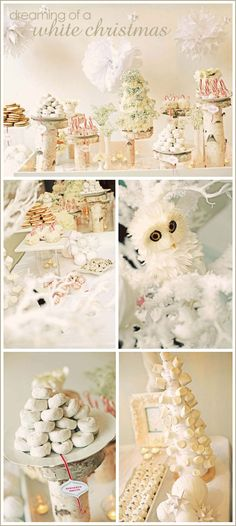 White Winter Wonderland Dessert Table