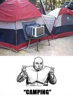 Works for me as long as the smaller tent is the latrine!