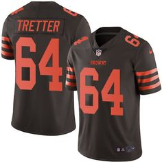 Men's Nike Cleveland Browns #64 JC Tretter Elite Brown Rush NFL Jersey