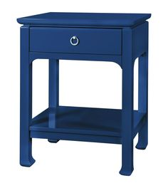 Harlow 1-Drawer Side Table in Navy design by Bungalow 5
