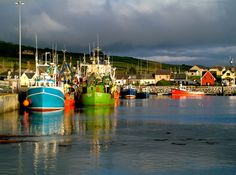 colorful boats in Dingle Harbor, Dingle, Ireland--been there...love the whole area!