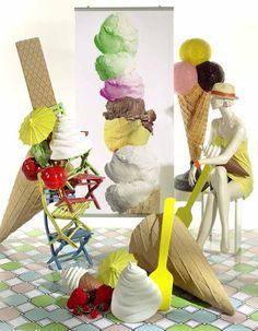 Creation Vetrina: Idea Vetrina Estate: Ice Cream
