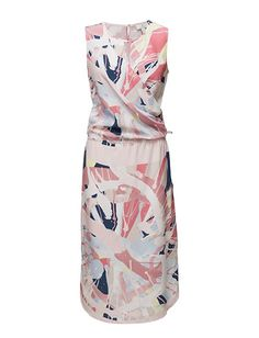 G2. SPIN ART PRINTED SLIK DRESS