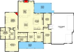 4-Bedroom Single-Story Exclusive New American Farmhouse with Open Concept Living (Floor Plan) - Home Stratosphere