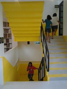 colour, staircase