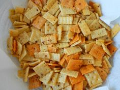 These are the easiest and most addictive little crackers I have EVER made. I rue the day I came across this recipe on Pintere...
