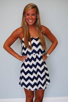 Really cute chevron dress | http://beautifulsummerclothes.blogspot.com