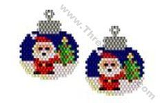 Santa Bauble Earring Bead Pattern By ThreadABead