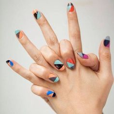 color block nails (or maybe what to do when you can't pick just one color of nail polish!)