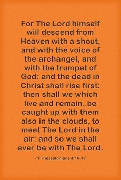 AMEN! 1 Thessalonians 4:16-17