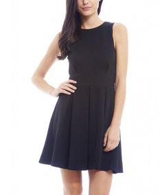 Look at this #zulilyfind! Black Pleated Skater Dress by AX Paris #zulilyfinds