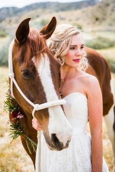 A gorgeous bride and her horse!