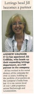 Head of Lettings becomes a Partner- Leicestershire Builder- June 2011