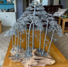 Bonsai Forest, Bonsai Wire, Wire Tree Sculpture, Wire Trees, Jewelry Tree, Handmade Wire, Beads And Wire, Wire Art, Trees To Plant
