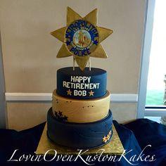 Police retirement cake Police Retirement Party, Retirement Cakes, Happy Retirement, Retirement Parties, Daddy Birthday, Birthday Fun, Birthday Ideas, Lovin Oven, Fire Fighter Cake
