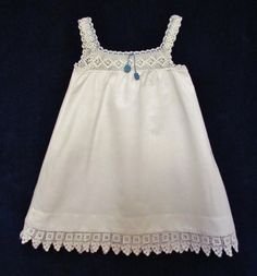 Vintage little girl's nightgown - crocheted yoke, c.1900. $30.00, via Etsy.