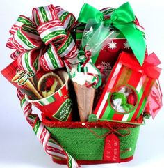 Santa's Jolly Holiday | Christmas Gift Basket of Gourmet Snacks, Coffee, and Cocoa ** Additional details @…
