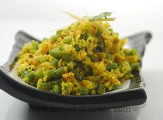 Moong Beans Recipe - A perfect side dish – split green gram cooked with French beans and masalas.