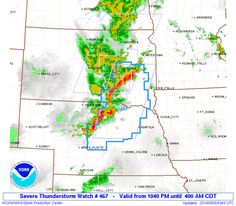 SPC Severe Thunderstorm Watch 467 Status Reports - http://blog.clairepeetz.com/spc-severe-thunderstorm-watch-467-status-reports/