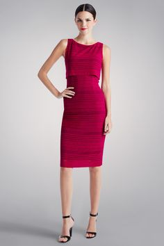 Our Magenta Stripe Pop Over Dress is perfect summer staple for dinner with friends or an upcoming family gathering