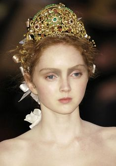 Lily Cole // Christian Lacroix, Spring 2006