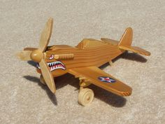Wooden P-40 Fighter 'Flying Tiger' Toy Plane