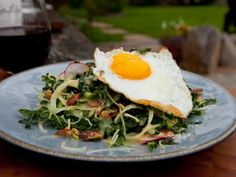 Italian Kale Slaw with Sunny-Side Up Eggs - I'd try without the egg.