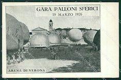 Verona Città Aviazione Mongolfiera cartolina QK7426