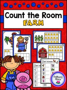 Count the Room: Numbers 1-10 and 11-20 - Farm ($)