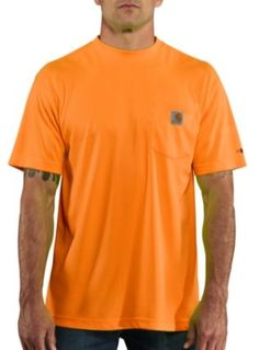 short sleeve orange w///'CARHARTT AUTHENTIC OUTFITTERS/' Carhartt T-Shirt