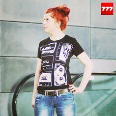 #777 #tshirt #kaseta #casette #tape http://sklep.galeria777.pl/pl/p/T-5-KASET-black-LADY/116 https://www.facebook.com/Tshirt777