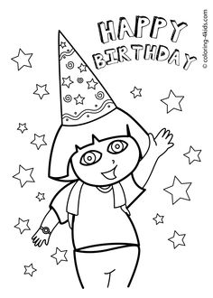 Happy Birthday Coloring Pages For Friends Free Birthday Coloring Pages Lovely Free Printable Happy Birthday. Happy Birthday Coloring Pages For Friends. Fox Coloring Page, Easy Coloring Pages, Coloring Pages For Girls, Flower Coloring Pages, Coloring Pages To Print, Free Printable Coloring Pages, Happy Birthday Drawings, Happy Birthday Mom, Free Birthday