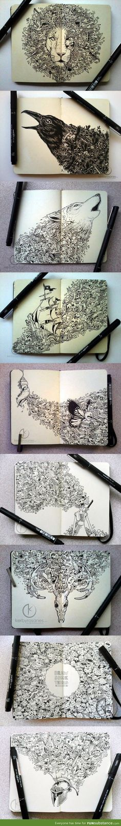 Incredible moleskine drawings