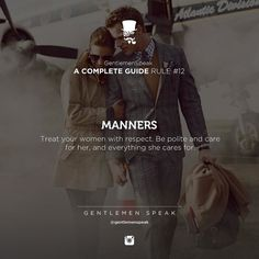 Manners.