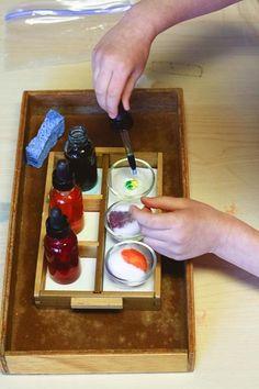 four montessori color mixing lessons | montessori works