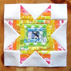 Exploding Star Tutorial. This Log Cabin Star would make a great giant block quilt