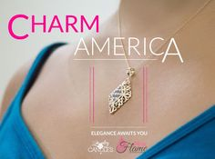 Pink Flames Charm America Candle