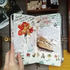 "213 Likes, 6 Comments - Evon (@lollalane) on Instagram: ""Flipthrough  #midori #journalwithme #lollalane #midoritravelersnotebook #travelersnotebook #foodie…"""