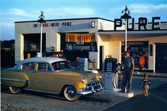 service stations with attendants...wish we still had them