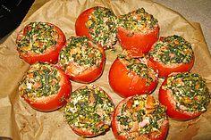 Gefüllte Tomaten mit Spinat und Hackfleisch (Rezept mit Bild) | Chefkoch.de