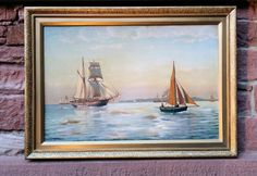 Der Kunst Blog: Jan Johan Neumann (*1860, Kopenhagen)Segelschiffe ...