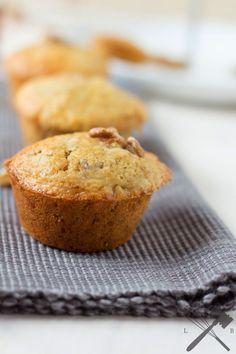 Ahornsirup und Walnuss Muffins