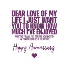 Happy Anniversary Funny, Anniversary Verses, Wedding Anniversary Quotes, Love Anniversary, Marriage Anniversary, Love My Husband Quotes, Love Me Quotes, Romantic Love Quotes, Happy Birthday Wishes Quotes