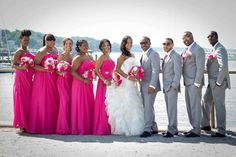 pink and gray wedding - Google Search